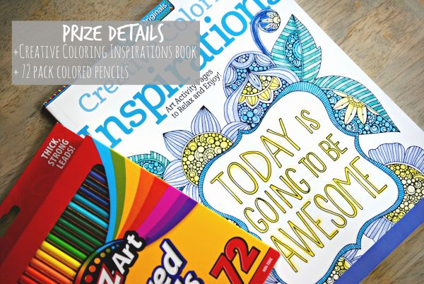 Adult Coloring Book Giveaway Prize Details