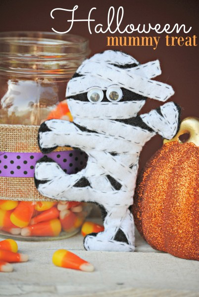 Halloween Mummy Treat DIY Felt Mummy