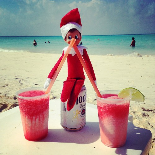 Elf on the Shelf - Drinks on the Beach