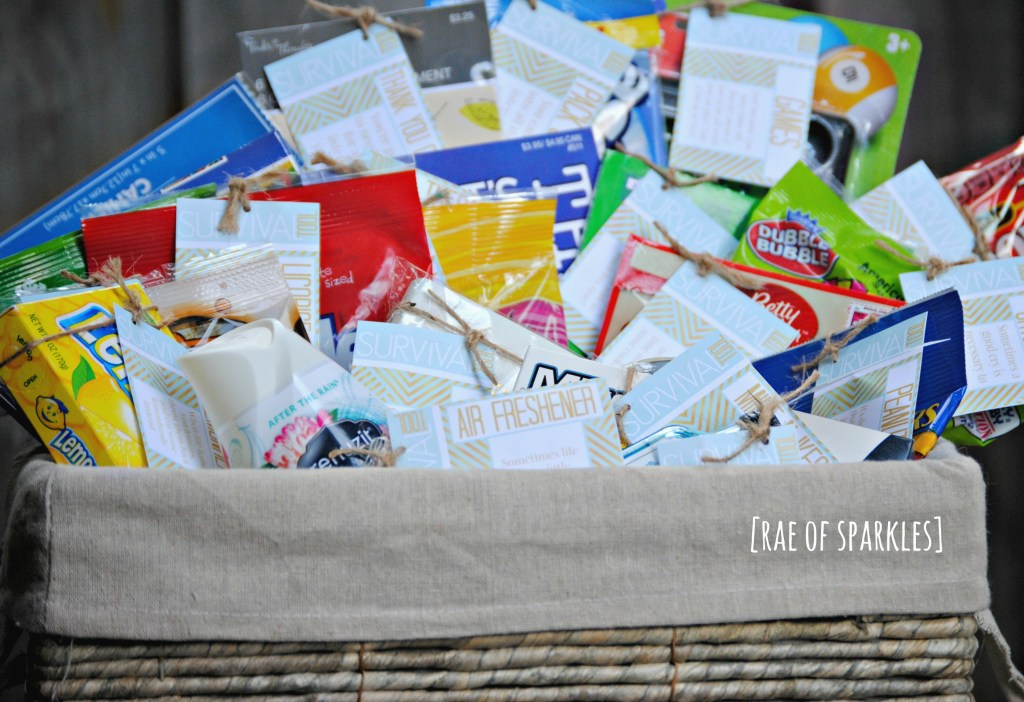 Survival Tools for the Unemployed - DIY Gift Basket with Free Printables