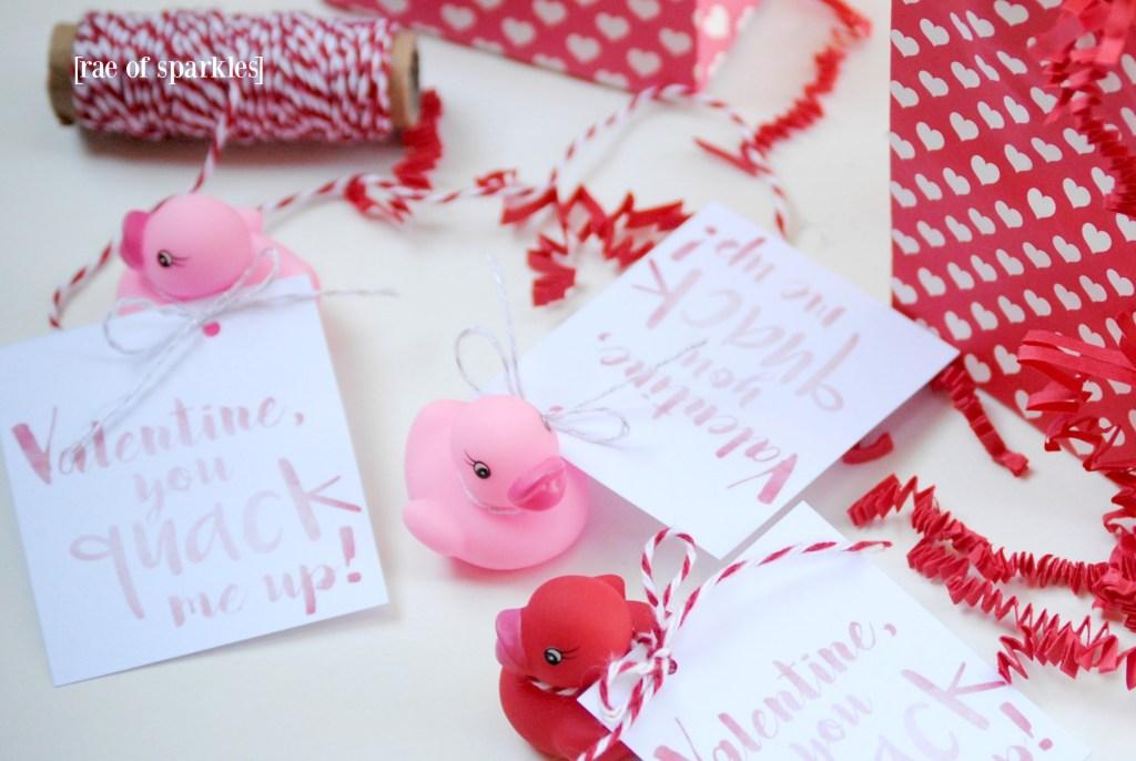 Valentine Rubber Duckies - Free Printable Valentine Gift