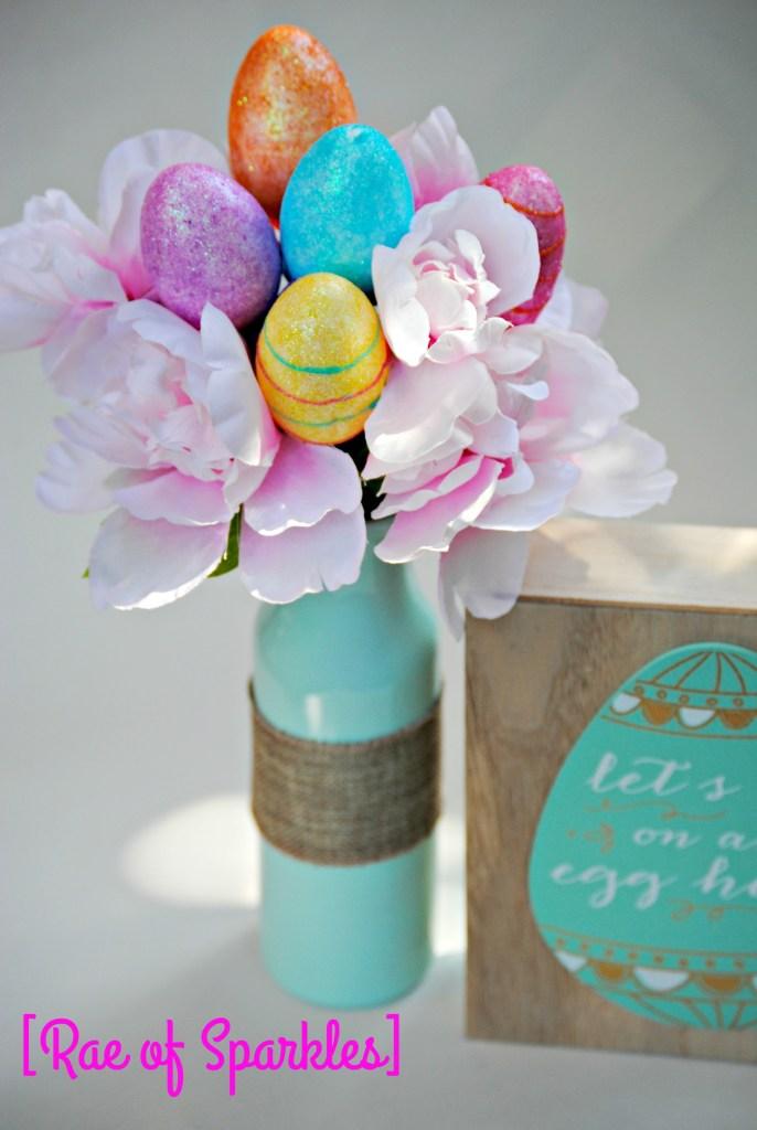 Dollar Store Easter Vase