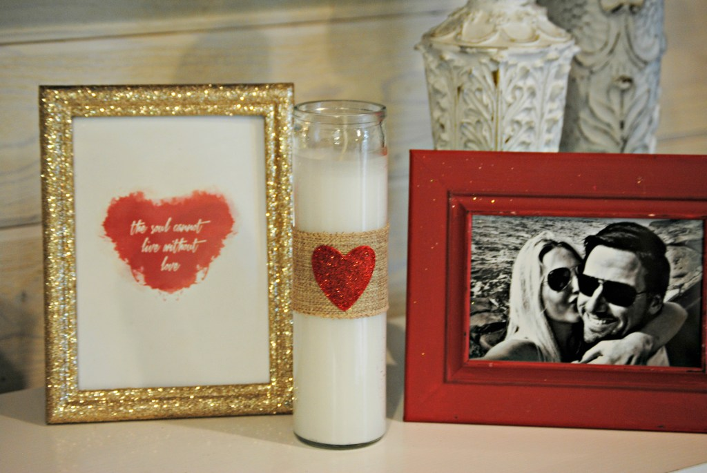 Valentine's Day Decor - DIY Pillar Candles