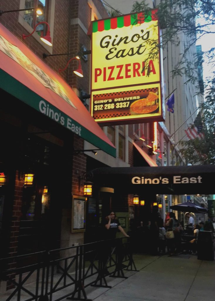 A Day in Chicago - Where to Get Deep Dish Pizza - Gino's East