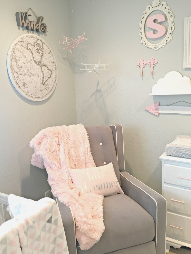 Adventure Travel Themed Nursery - Baby Girl