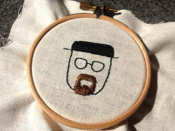 walter white embroidery breaking bad