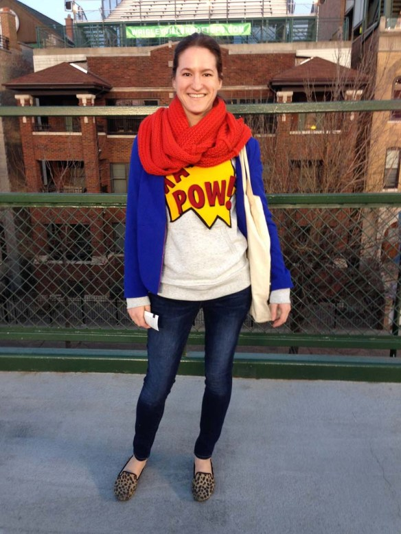 what I wore to a cubs game