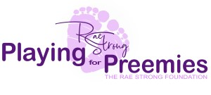 Rae Strong Playing for Preemies logo
