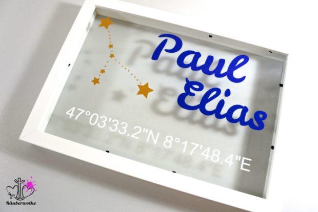 Namensrahmen - Sternenhimmel für Fred von Soho // Raeuberwolke.ch