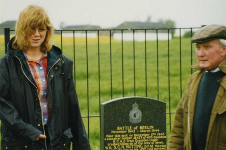 Jennie Gray with Colin Stocker, who erected the memorial. circa 1998.