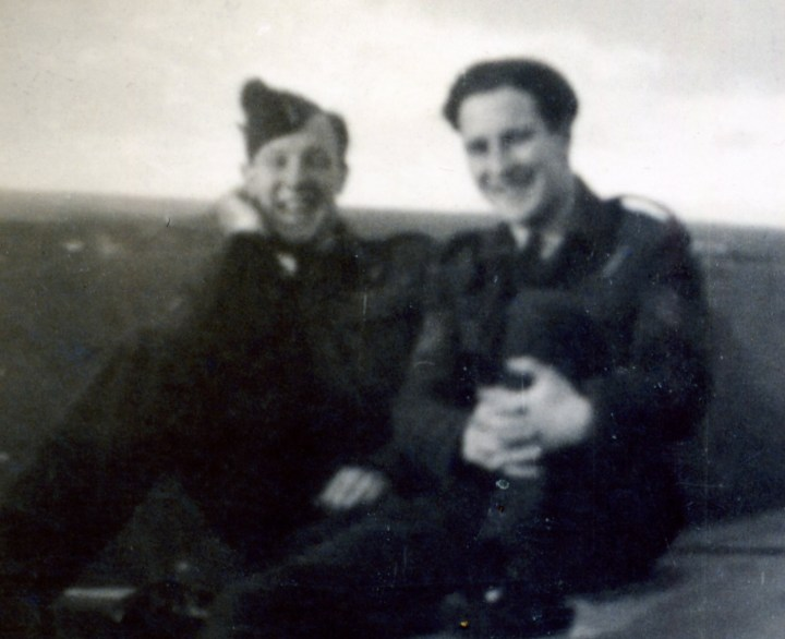 Downed Mossie 004, two friends