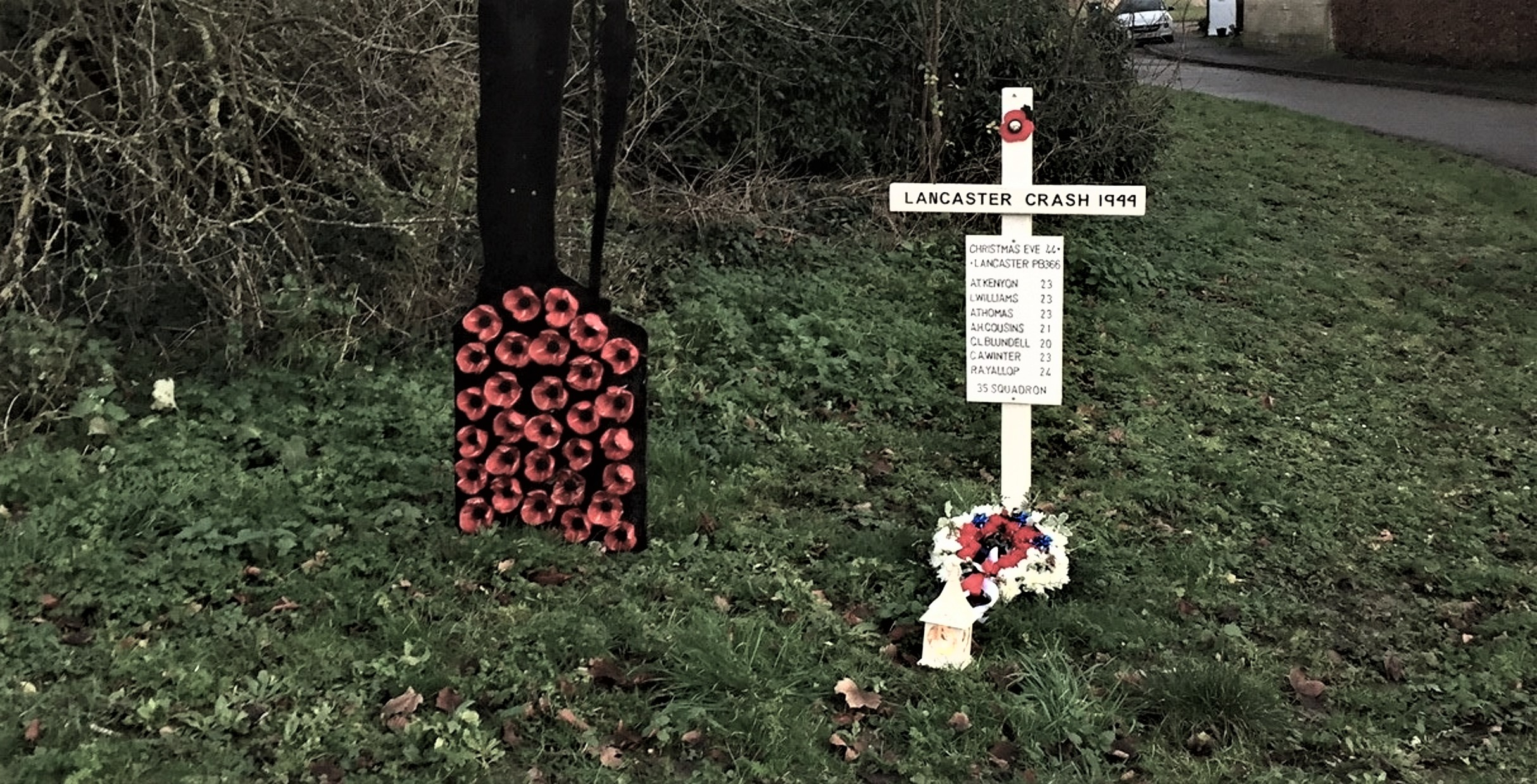 Remembrance on Christmas Eve: Great Paxton, Cambridgeshire