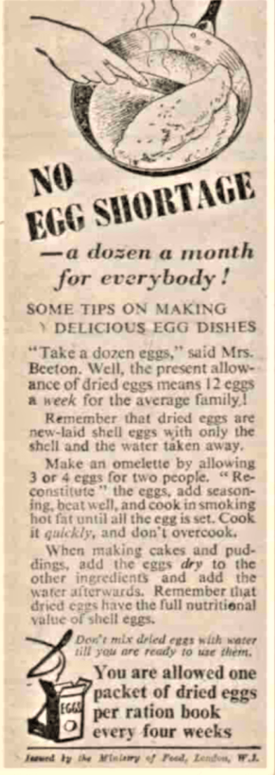 no egg shortage, manchester evening news, 3-11-43