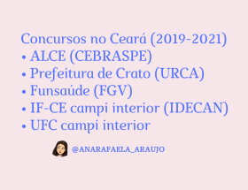 Concursos no CE (2019-2021)