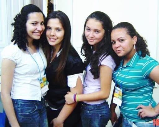 Da esquerda para direita: Juliane Custódio, Amanda Lima, Jordana Mendes e Ariele Mendonça