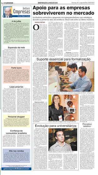 Rafael Carvalho no jornal O Fluminense