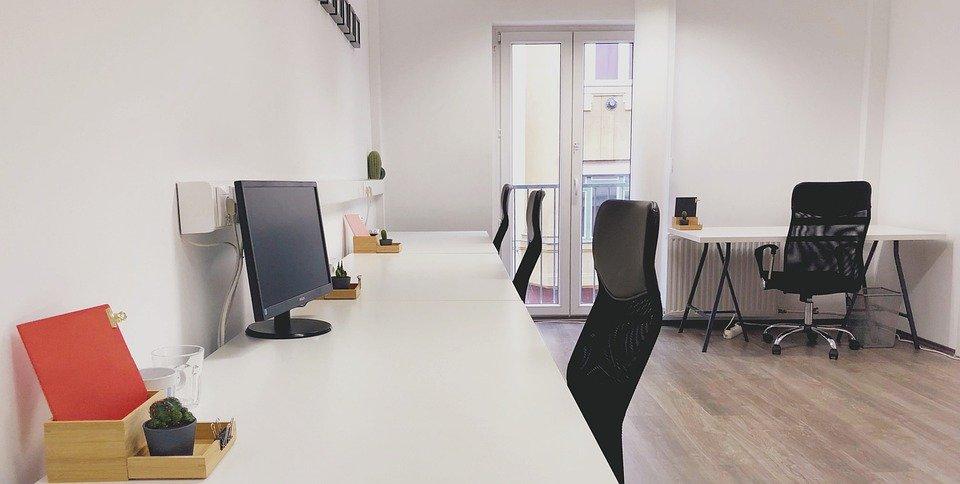 Escritório, Coworking, Recepção, Cadeira