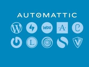 Logos dos serviços mantidos pela Automattic