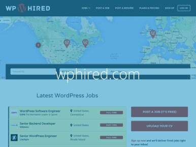 Captura de tela do site da wphired.com com o texto wphired.com escrito sobre ela