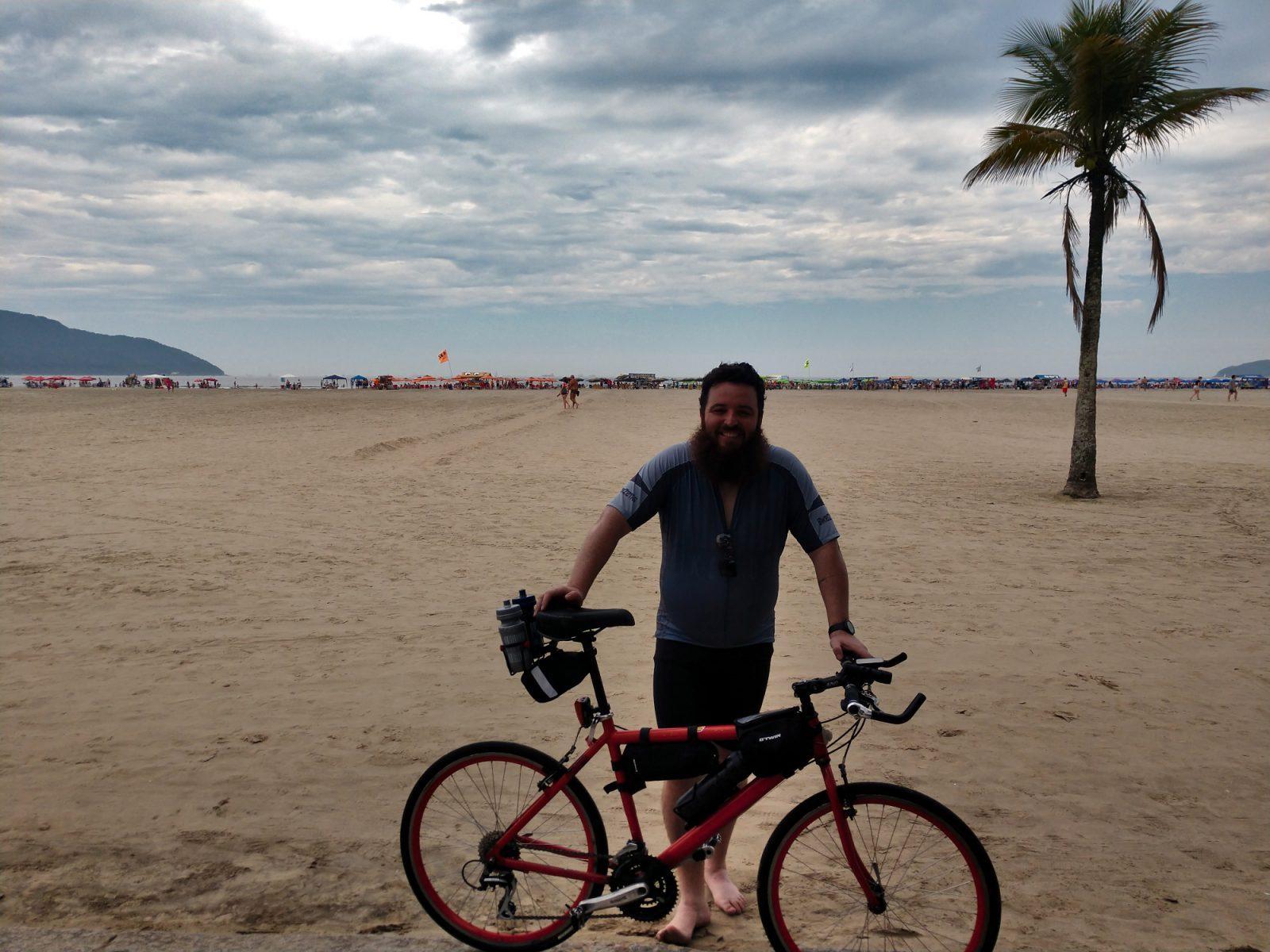 Finalmente em Santos depois de 81 Km pedalados