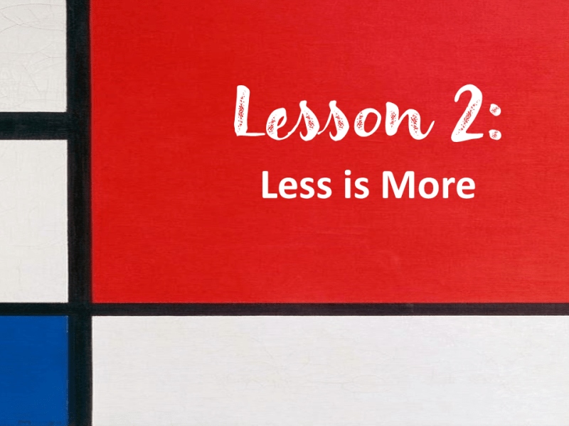 Less is More - Tomorrow's Jobs Today