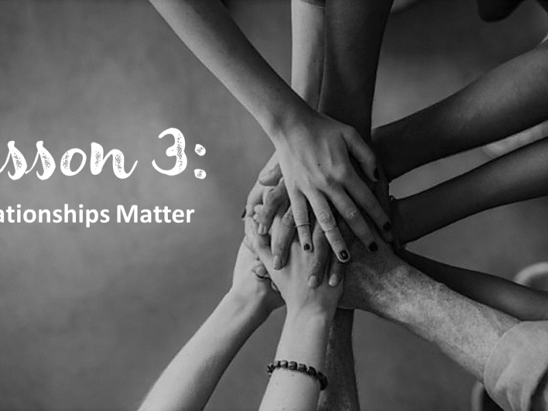 Relationships Matter - Tomorrow's Jobs Today