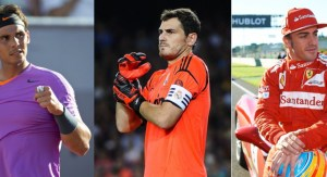 Rafa, Iker Casillas and Fernando Alonso
