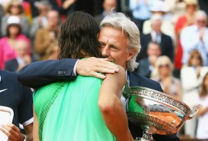 Rafael Nadal and Björn Borg at Roland Garros 2008 (Julian Finney/Getty Images)
