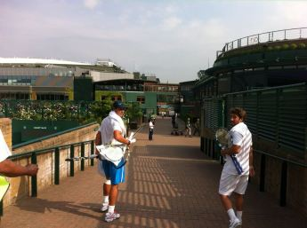 With Marc in Wimbledon! Classic walk between courts.