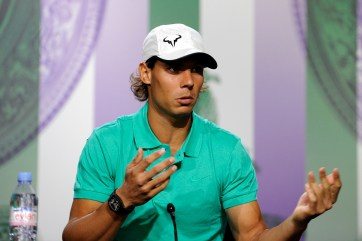 Rafael Nadal addresses the media - Tom Lovelock/AELTC