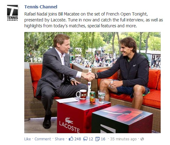 Tennis Channel Facebook