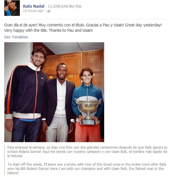 Rafa's Facebook