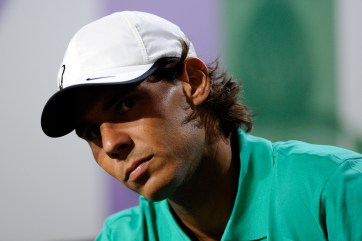 Rafael Nadal at news conference - Tom Lovelock