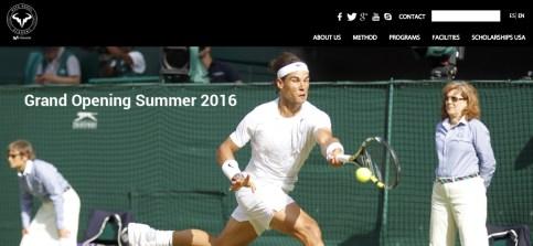 Rafa Nadal Academy Website