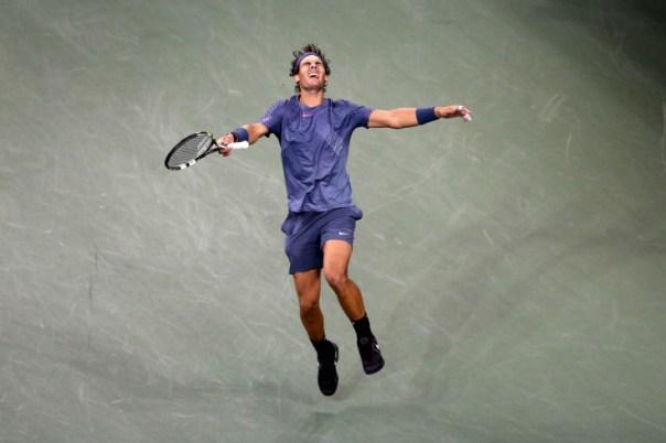 Rafael Nadal celebrates winning the US Open Final. (Photo: Carl Recine)