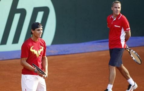 Davis Cup - Rafael Nadal practicing in Madrid (14)