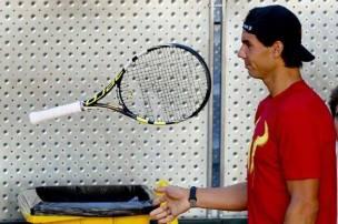 Davis Cup - Rafael Nadal practicing in Madrid (2)