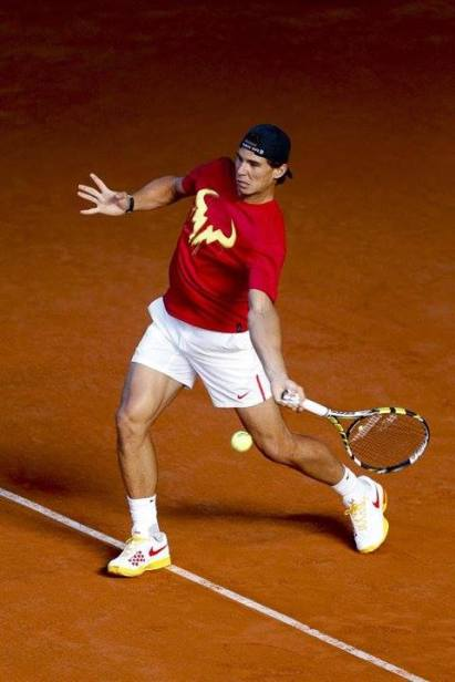 Davis Cup - Rafael Nadal practicing in Madrid (5)