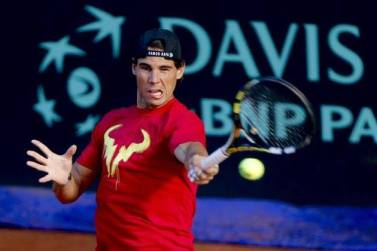 Davis Cup - Rafael Nadal practicing in Madrid (6)