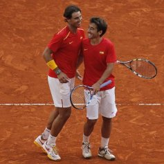 Rafael Nadal and Marc Lopez - Davis Cup - Spain Ukraine (18)