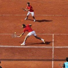 Rafael Nadal and Marc Lopez - Davis Cup - Spain Ukraine (2)
