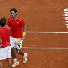 Rafael Nadal and Marc Lopez - Davis Cup - Spain Ukraine (21)