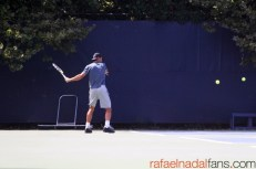 Rafael Nadal practices with Uncle Toni in New York (3)