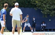 Rafael Nadal practices with Uncle Toni in New York (8)