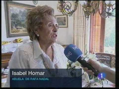Rafael Nadal's grandmother Isabela Homer - abuela de Rafa