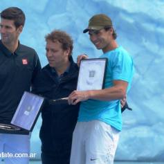 Nadal and Djokovic play tennis Perito Moreno glacier (7)