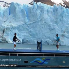 Nadal Djokovic Perito Moreno glacier in Argentina 2013 (12)