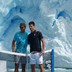 Nadal Djokovic Perito Moreno glacier in Argentina 2013 (13)