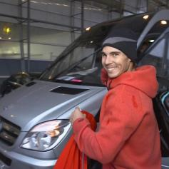 Rafa is arriving at O2. Photo: @stroppadel