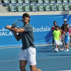 Rafael Nadal At Kids Clinic In Abu Dhabi (10)